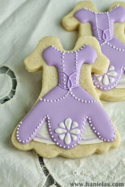 Sofia the First Dress Cookies
