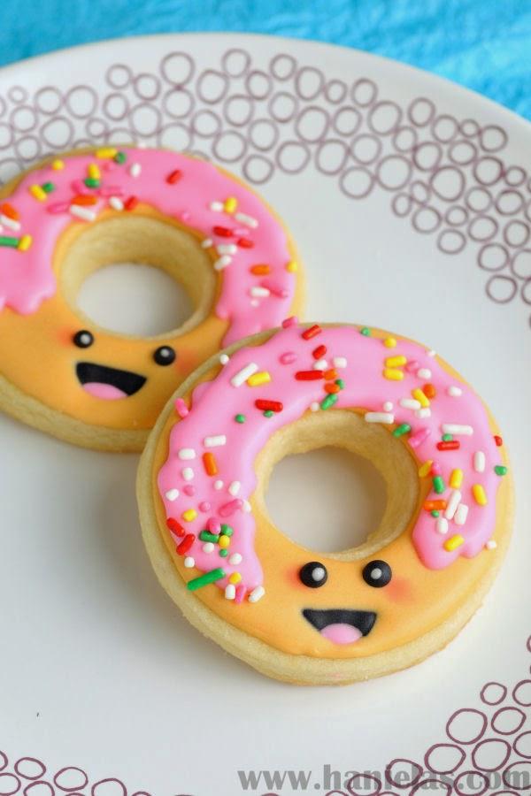 Kawaii Decorated Donut Cookies