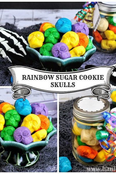 Rainbow Sugar Cookie Skulls