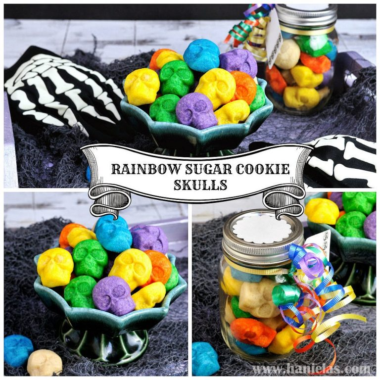 Rainbow Sugar Cookie Skulls