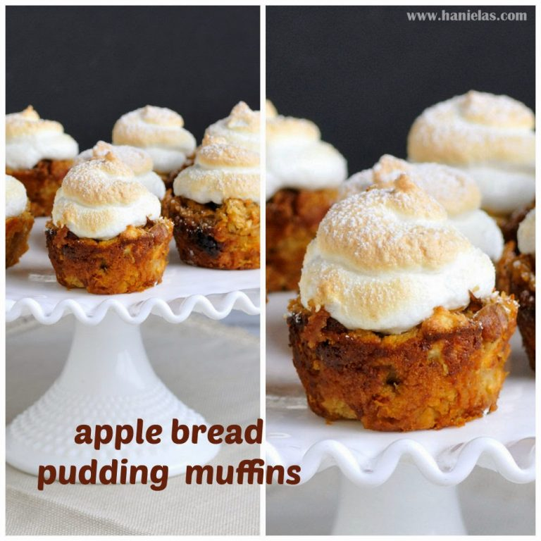 Apple Bread Pudding Muffins