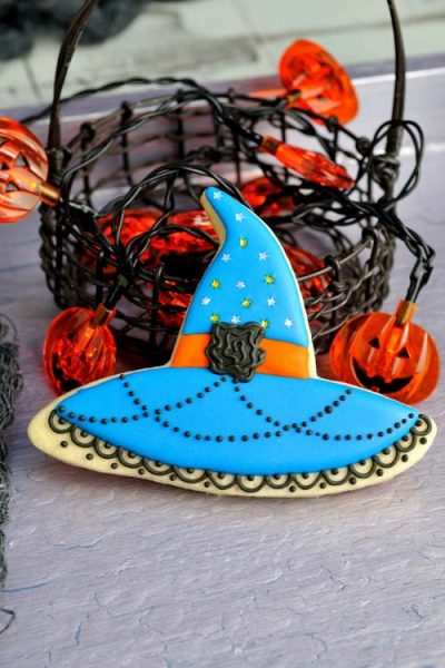 Decorated sugar cookie.