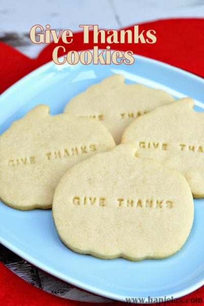 Give Thanks Cookies for Thanksgiving