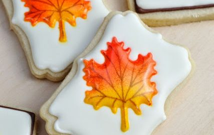 Colorful Fall Leaves Cookies