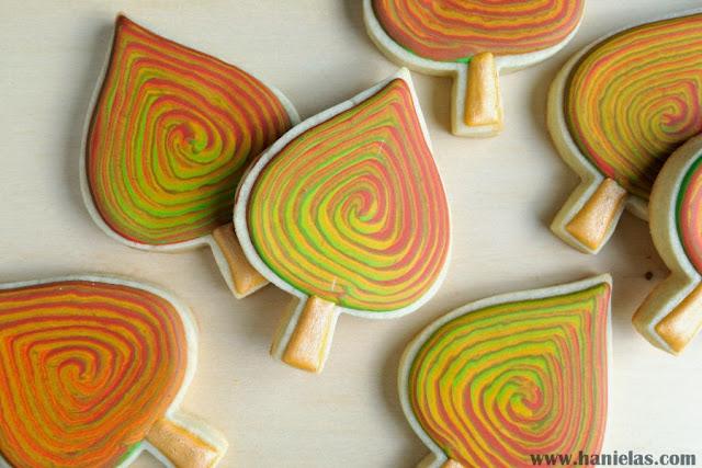 Marbled Fall Leaves Cookies