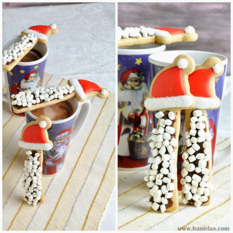 Santa Hat S'mores Cookie Stirrers