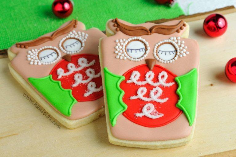 Christmas Woodland Owl Cookies