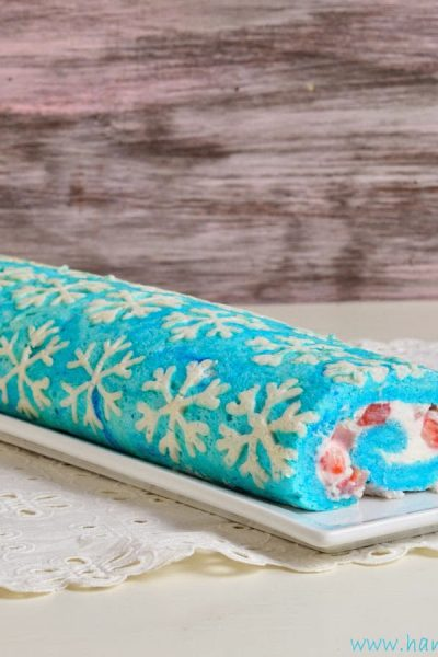 Snowflake Cake Roll