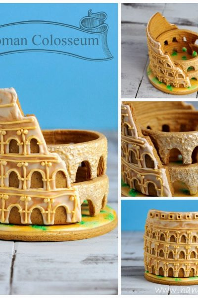 3D Roman Colosseum Cookie