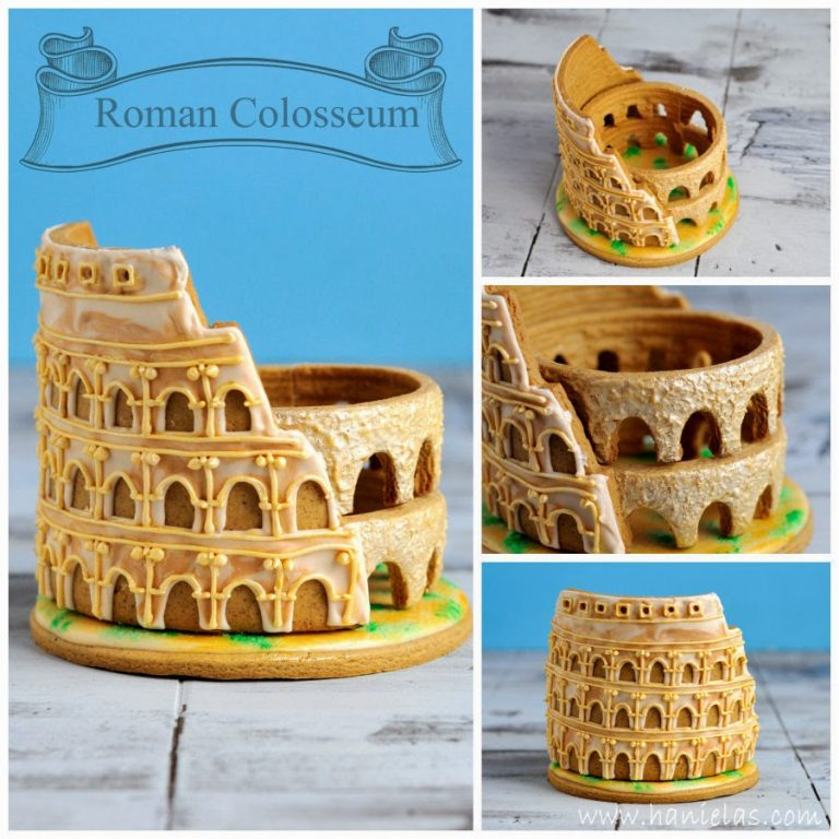 Gingerbread Cookies and 3D Roman Colosseum Cookie