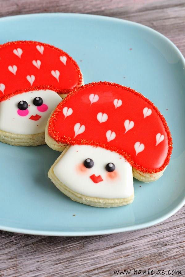 """I Love You Very Mush "" Kawaii Valentine's Day  Mushroom Cookies"
