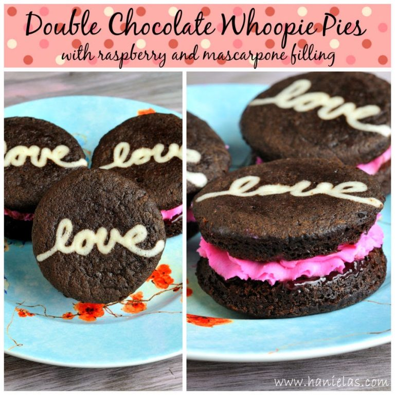 Double Chocolate Whoopie Pie for Valentine's Day