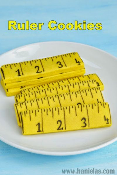 Ruler Cookies for School or Father's Day