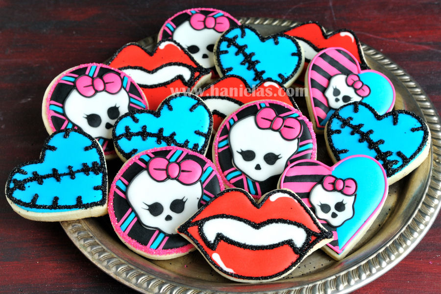 Monster High Skull Cookies | Haniela's