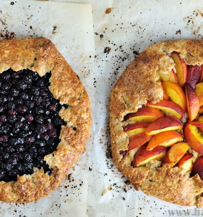 Blueberry and Peach Ricotta Tarts(Galettes)