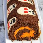 Close up of cake roll.