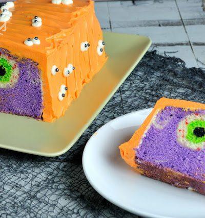 Monster Eye Surprise Cake for Halloween
