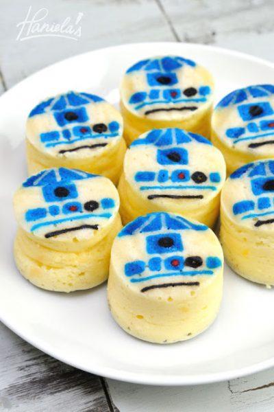 R2 D2 Star Wars Mini Cheesecakes