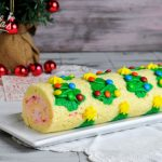 Christmas Tree Candy Cane Cake Roll
