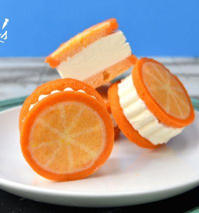 Orange Creamsicle Ice Cream Sandwiches