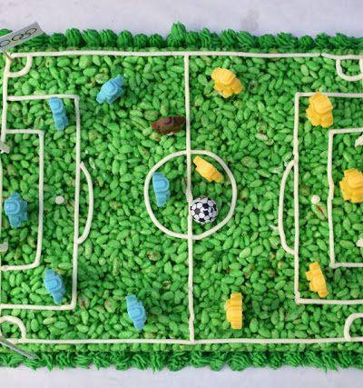 Olympics Soccer Rice Krispies Cake