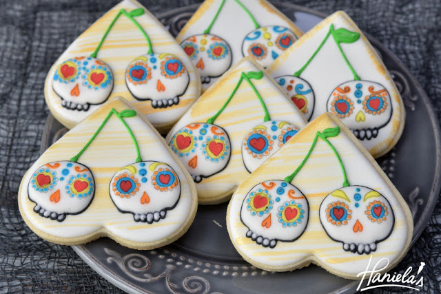 Day of the Dead Cherry Skull Cookies