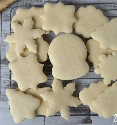 Soft Sugar Cookies and Decorated Cookies with Buttercream Frosting
