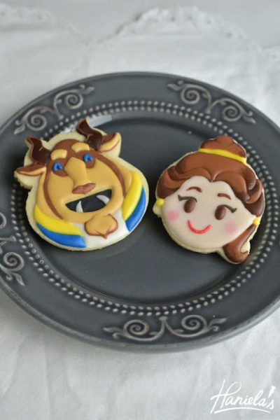 Beauty and The Beast Disney Emoji Blitz Cookies