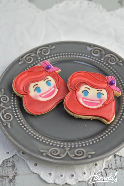 Ariel Mermaid Disney Emoji Blitz Cookies