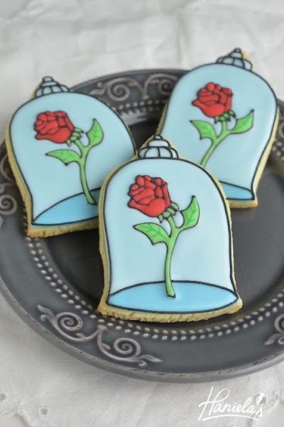 Enchanted Rose Cookies from Beauty and The Beast