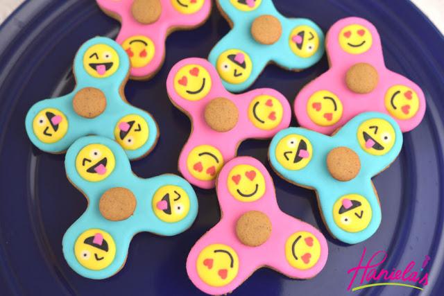 Fidget Spinner Emoji Cookies