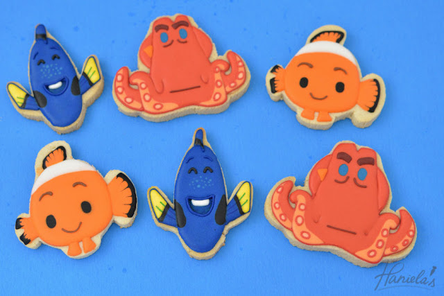 Finding Dory Cookies : Nemo, Dory and Hank