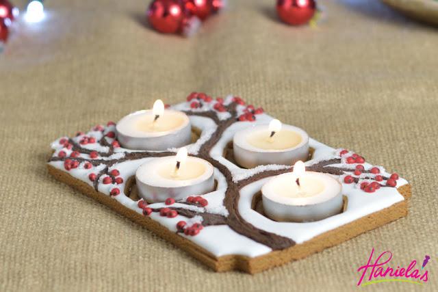 Pretty Christmas Gingerbread Advent Centerpiece