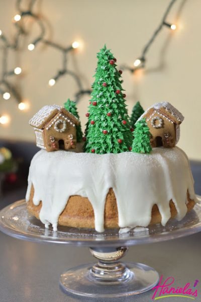 Christmas Village Bundt Cake