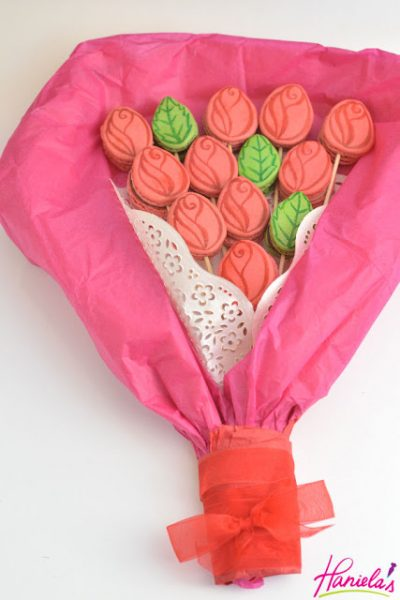 French Macarons Rose Flower Bouquet