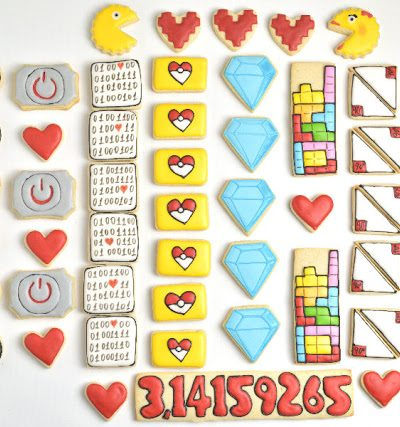 10 Geeky Valentine's Day Cookies + printable tags