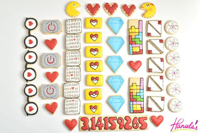 10 Geeky Valentine's Day Cookies + printable tags