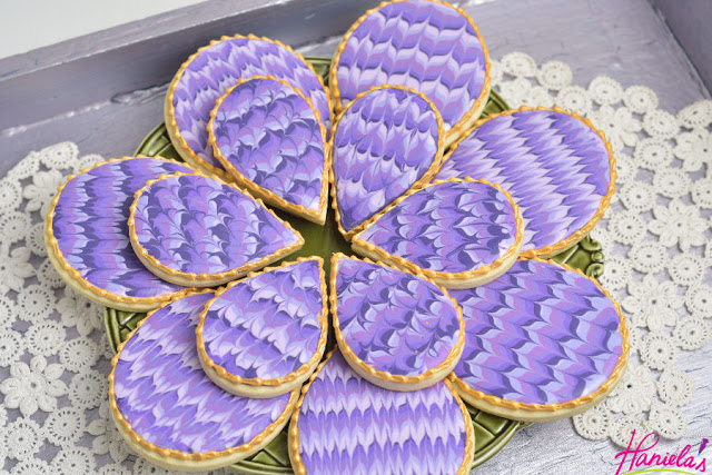 50 Shades of Purple Marbled Cookies