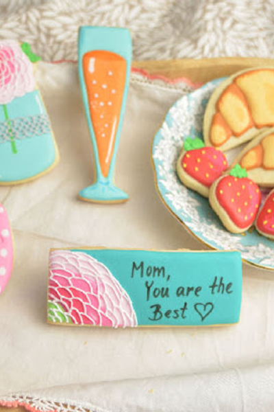Mother's Day Breakfast in Bed Cookies