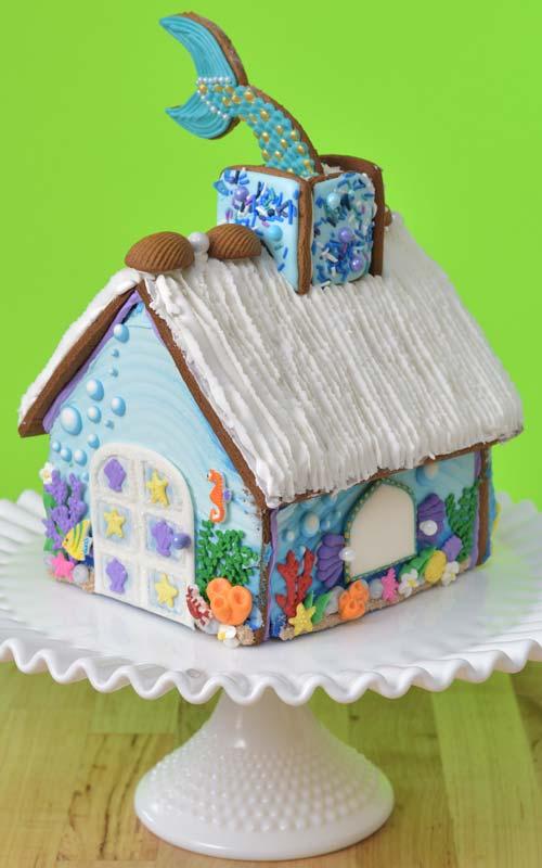 Mermaid Gingerbread House