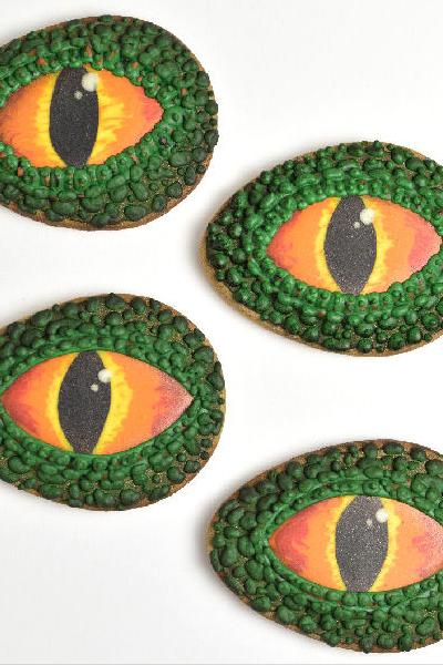 Dinosaur Eye Cookies