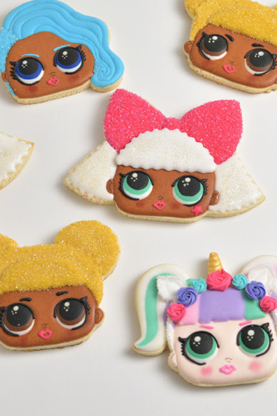 LOL Surprise Doll Cookies : Queen Bee and Unicorn Doll Cookies