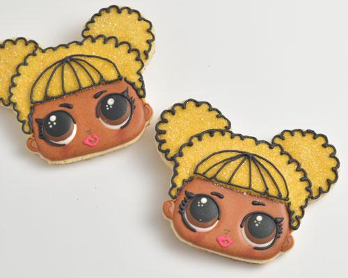 Queen bee doll sugar cookies.