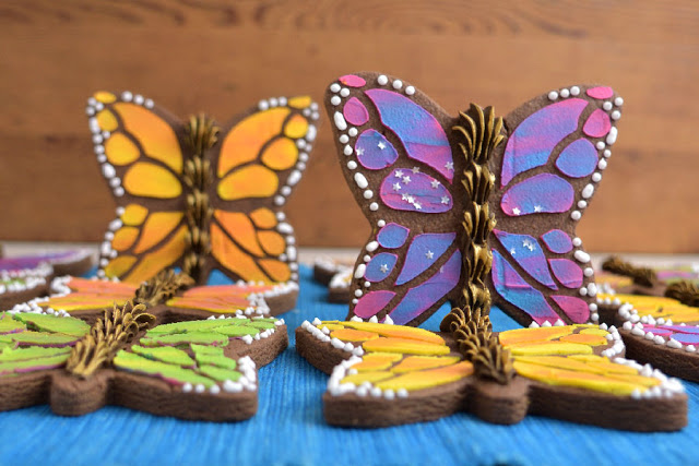 monarch butterfly, monarch cake, butterfly cake, butterfly cookies