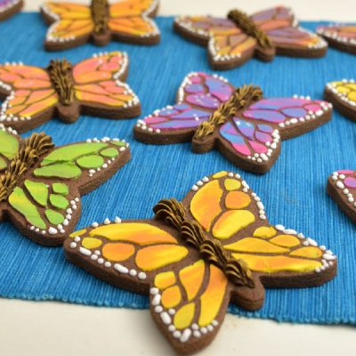 Colorful Monarch Butterfly Cookies