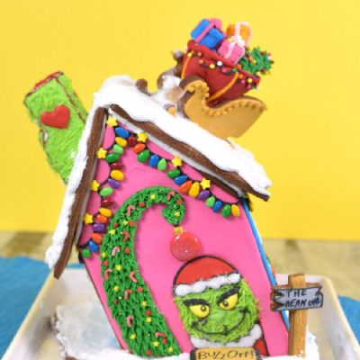 grinch, gingerbread house, christmas