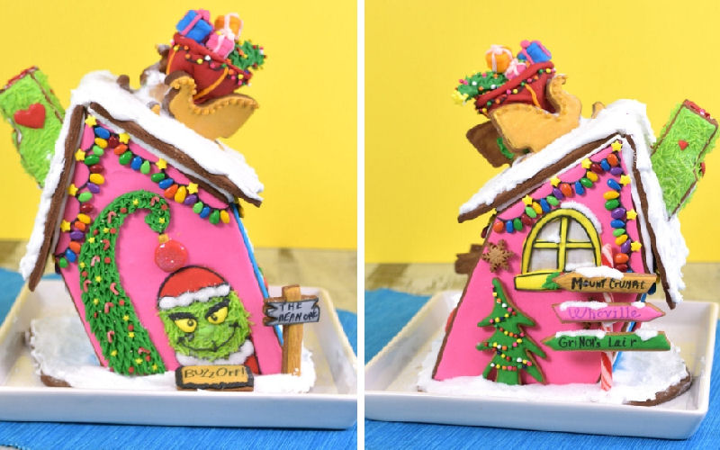 gingerbread house, grinch, christmas