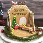 Santa's Workshop Gingerbread Centerpiece