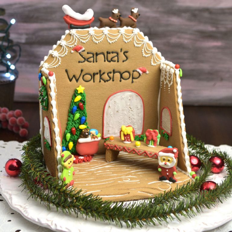 Santa's Workshop Gingerbread Centerpiece