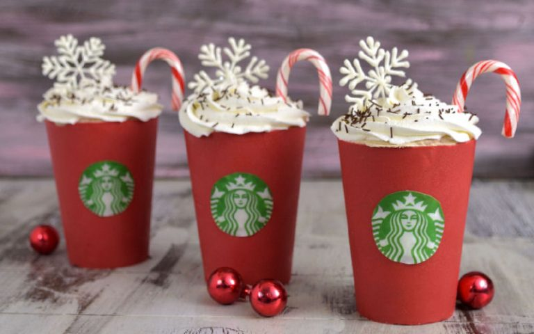 Starbucks Peppermint Mocha Cakes in Edible Red Cup
